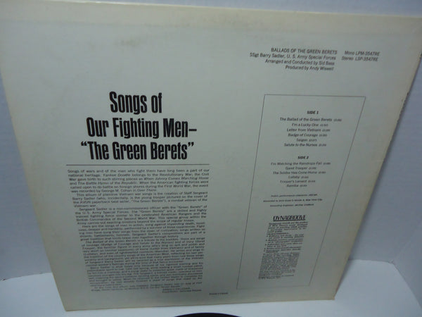 SSgt. Barry Sadler, U.S. Army Special Forces ‎– Ballads Of The Green Berets