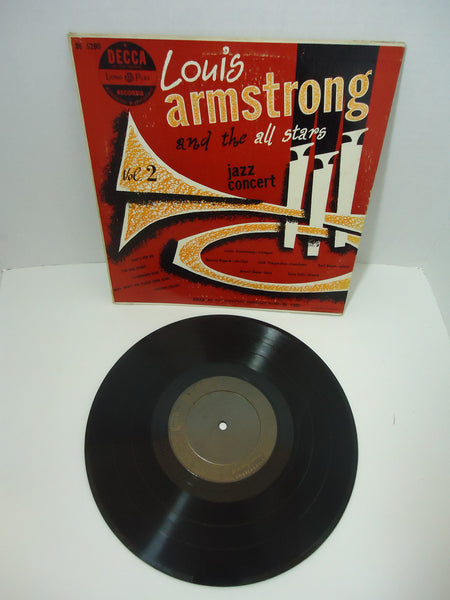 "Louis Armstrong And The All-Stars ‎– Jazz Concert [10""]"