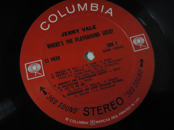 Jerry Vale ‎– Where's The Playground Susie?
