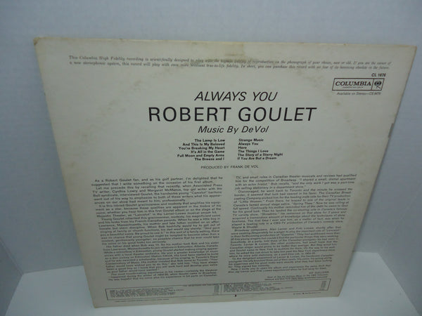Robert Goulet ‎– Always You