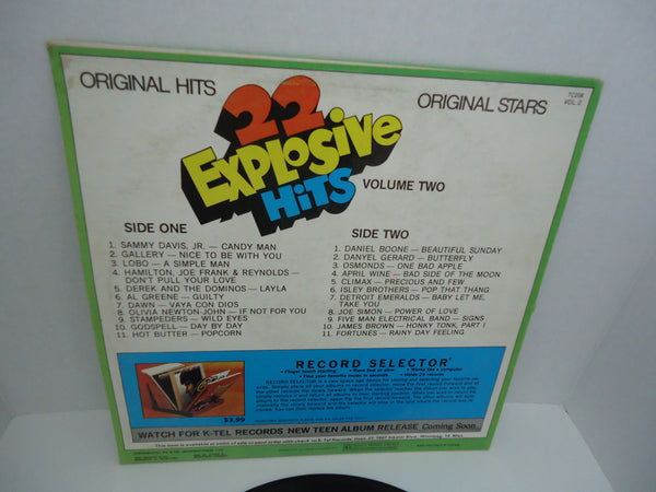 Various ‎Artists – 22 Explosive Hits - Volume Two [K-Tel]