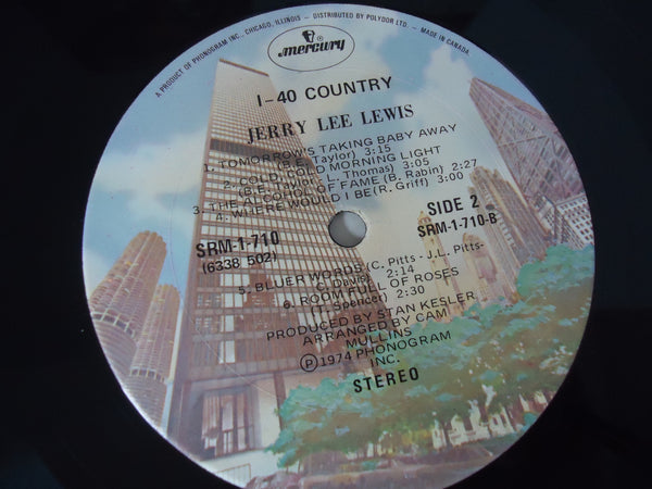 Jerry Lee Lewis ‎– I-40 Country LP Canada