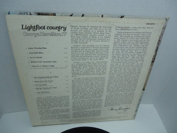 George Hamilton IV ‎– Lightfoot Country: Sings Canadian Folksongs Of Gordon Lightfoot