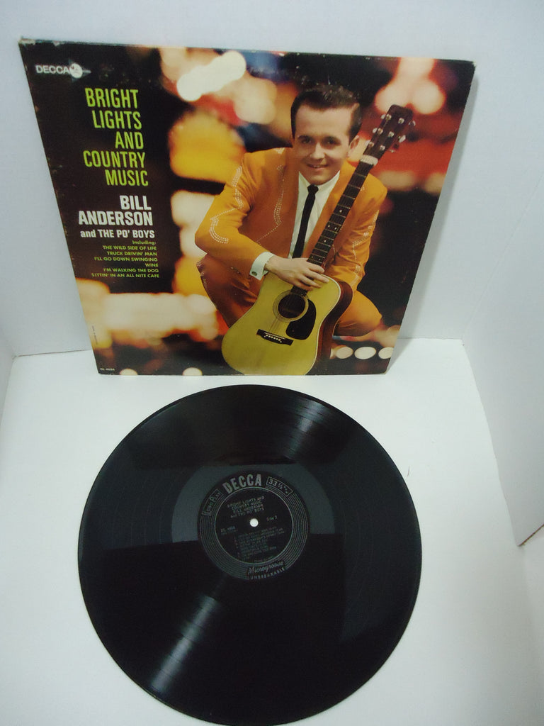 Bill Anderson & The Po' Boys ‎– Bright Lights And Country Music Mono LP