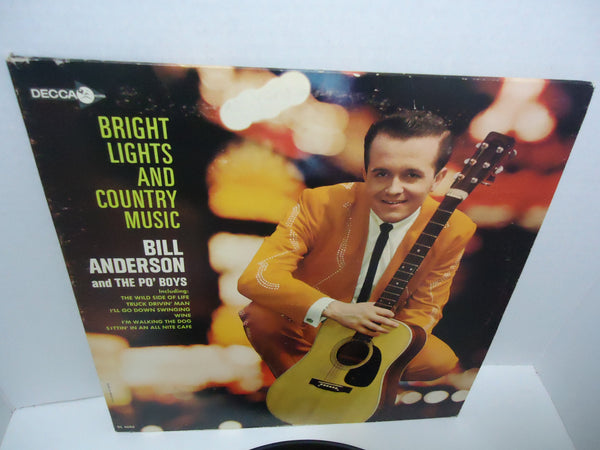 Bill Anderson & The Po' Boys ‎– Bright Lights And Country Music [Mono] LP
