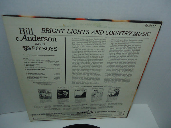 Bill Anderson & The Po' Boys ‎– Bright Lights And Country Music [Mono]