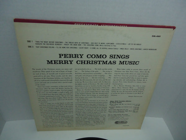 Perry Como ‎– Sings Merry Christmas Music