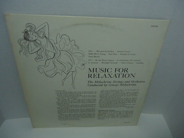 The Melachrino Strings And Orchestra ‎– Moods In Music: Music For Relaxation LP 1958