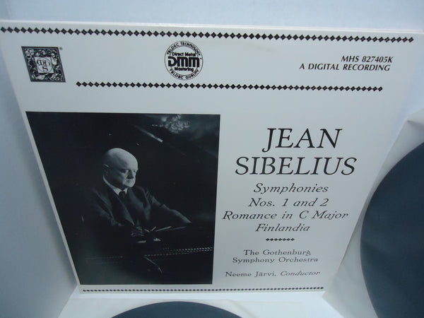Jean Sibelius, The Gothenburg Symphony Orchestra, Neeme Järvi ‎– Symphonies Nos. 1 And 2 / Romance In C Major / Finlandia [Double LP] [Gatefold] LP