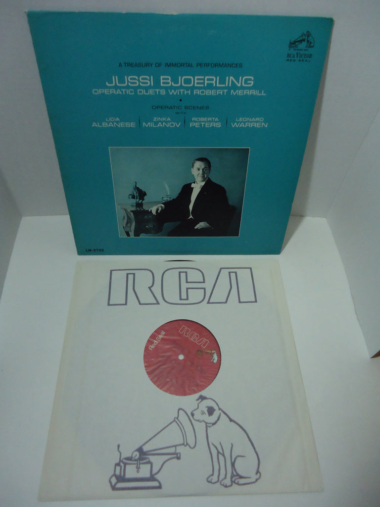 Jussi Bjoerling with Robert Merrill ‎– Operatic Duets [Mono] LP