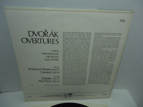 Dvořák, Ančerl, Czech Philharmonic Orchestra ‎– Dvořák Overtures, Othello, My Home, In Nature's Realm, Carnival OvertureDvořák*, Ančerl*, Czech Philharmonic Orchestra ‎– Dvořák Overtures, Othello, My Home, In Nature's Realm, Carnival Overture