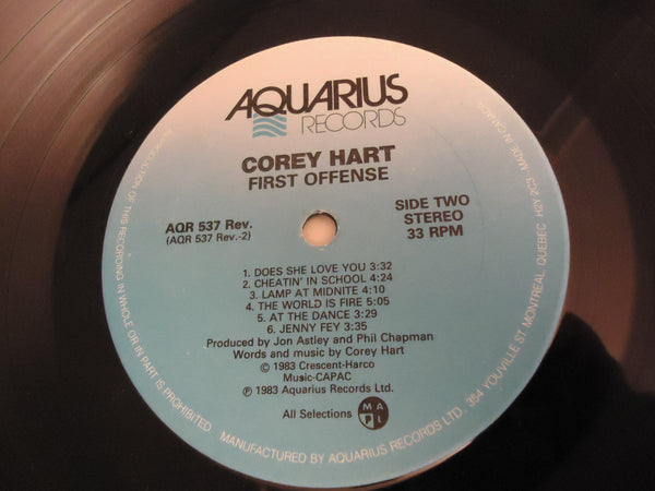 Corey Hart ‎– First Offense [Re-issue]