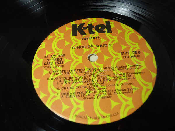 Various Artists - Wings of Sound Today's Original Hits & Stars (K-Tel Records Compilation)