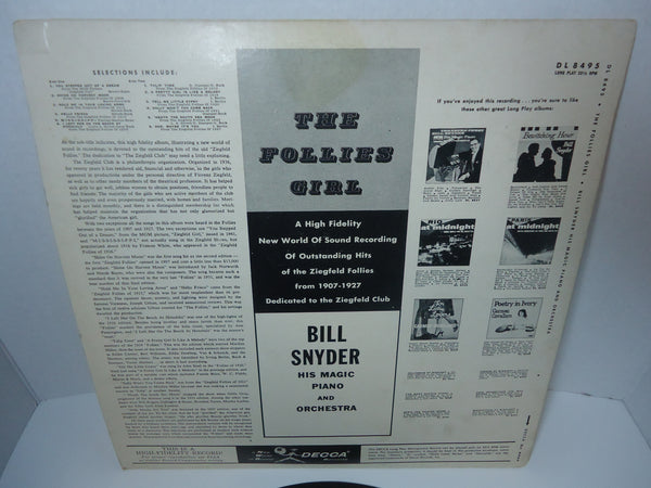 Bill Snyder And His Orchestra ‎– The Follies Girl