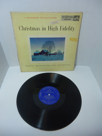 George Melachrino And Orchestra ‎– Christmas In High Fidelity LP Canada