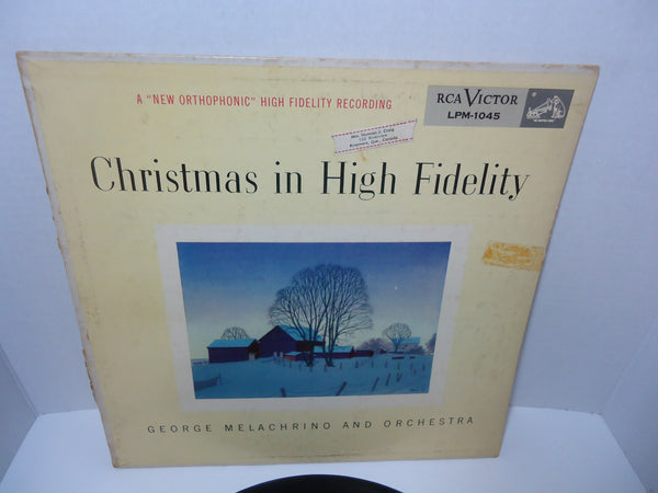 George Melachrino And Orchestra ‎– Christmas In High Fidelity