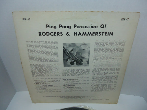 Rodgers & Hammerstein By Stradivari Strings ‎– Ping Pong Percussion