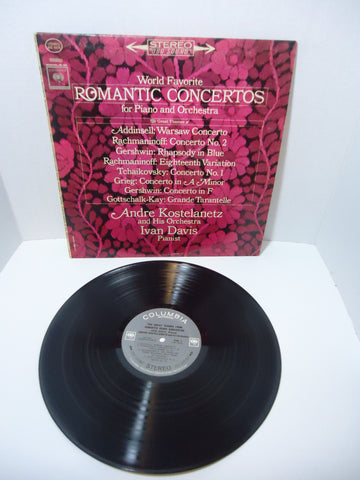 Andre Kostelanetz And His Orchestra – World Favorite Romantic Concertos For Piano And Orchestra LP