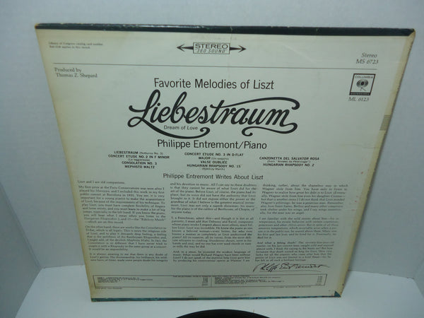Liszt, Philippe Entremont ‎– Favorite Melodies Of Liszt Liebestraum (Dream Of Love)