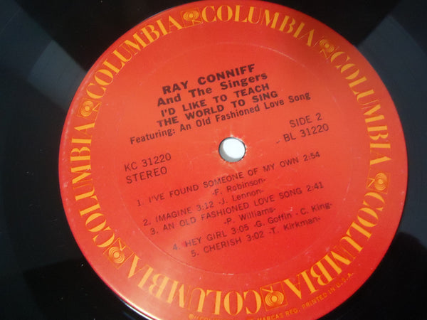 Ray Conniff And The Singers ‎– I'd Like To Teach The World To Sing