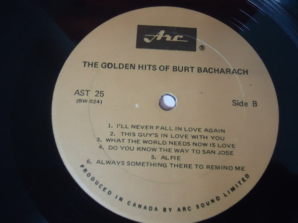 Burt Bacharach ‎– The Golden Hits Of Burt Bacharach