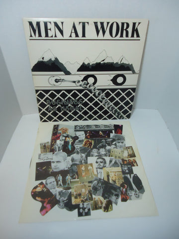 Men At Work ‎– Business As Usual [White Cover] LP Canada