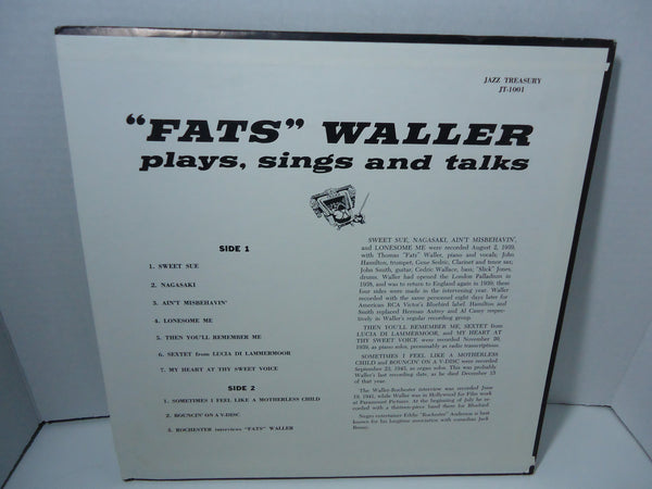 Fats Waller - Plays, Sings and Talks [Red Vinyl]