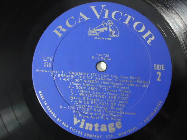 Fats Waller - '34 / '35 Vintage Series