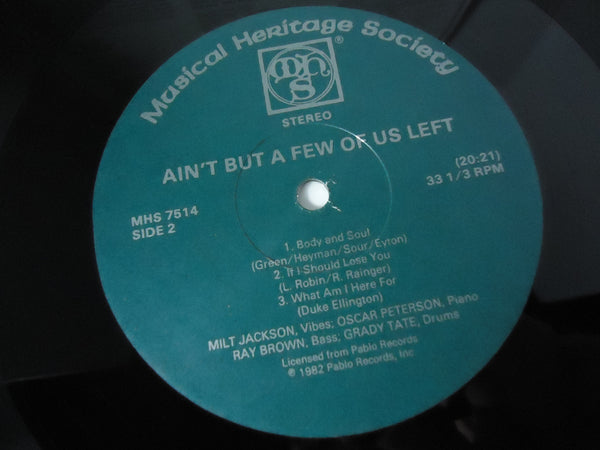 Milt Jackson - ‎Ain't But A Few Of Us Left