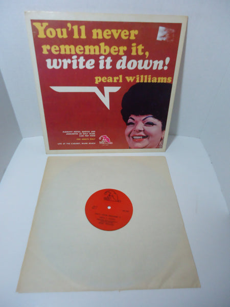 Pearl Williams ‎– You'll Never Remember It, Write It Down LP