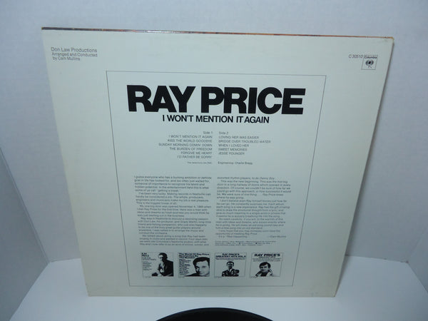 Ray Price ‎– I Won't Mention It Again