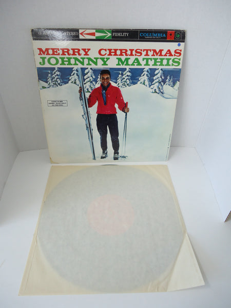 Johnny Mathis With Percy Faith And His Orchestra ‎– Merry Christmas [Re-issue] LP Canada