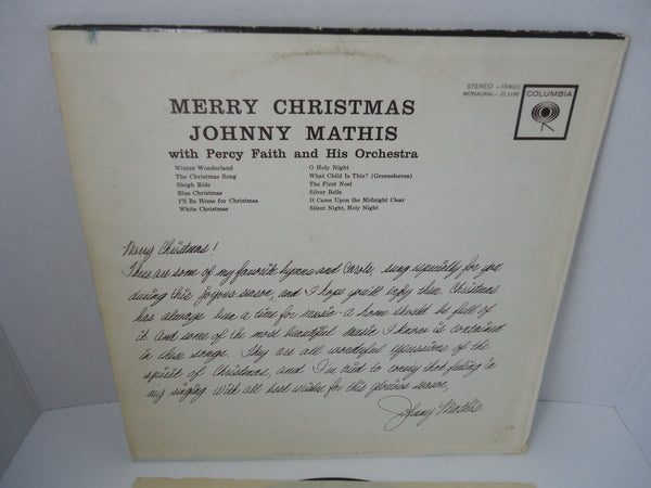 Johnny Mathis With Percy Faith And His Orchestra ‎– Merry Christmas [Re-issue]