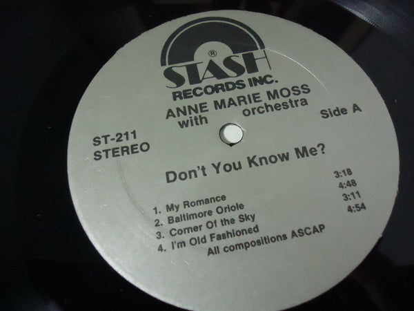 Anne Marie Moss - Don't You Know Me?