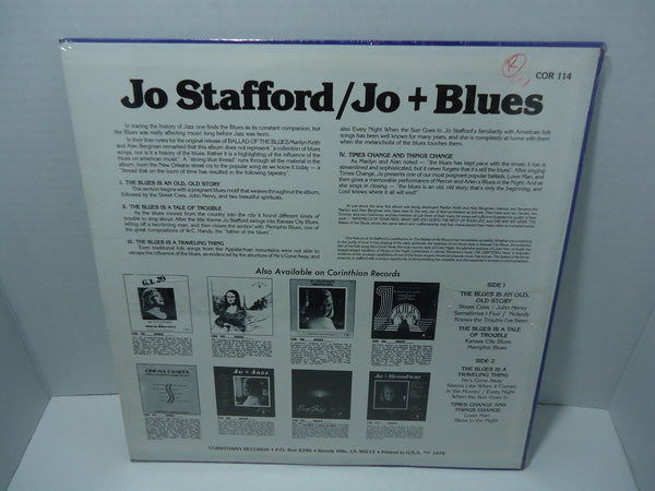 Jo Stafford - Jo + Blues: Ballad Of The Blues [Sealed]