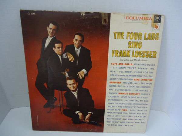 The Four Lads, Ray Ellis And His Orchestra ‎– The Four Lads Sing Frank Loesser [Mono]