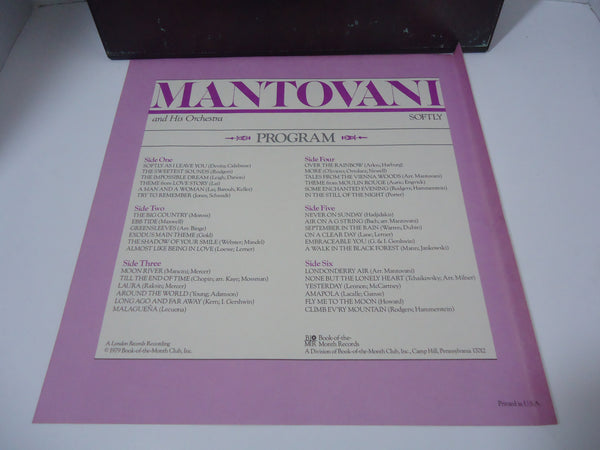 Mantovani And His Orchestra ‎– Softly [3 LP Box Set]