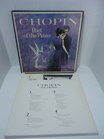 Chopin ‎– Poet Of The Piano [Reader's Digest Selection] 4 Set Vinyl LP