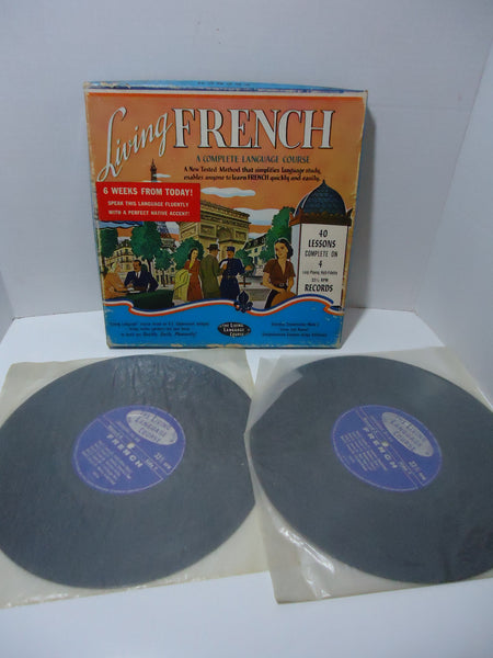 Living French: A Complete Language Course 4 Box Set Vinyl LP