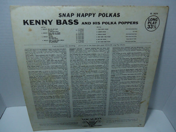Kenny Bass and His Polka Poppers - Snap Happy Polkas
