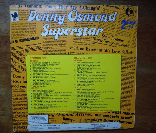 Donny Osmond - Superstar [Double LP]