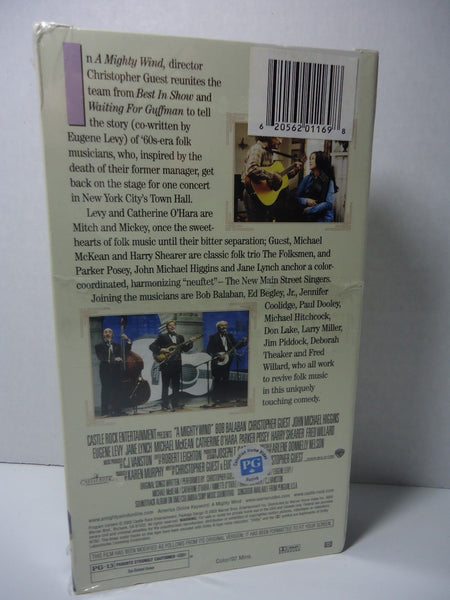 Mighty Wind VHS cassette tape new back cover