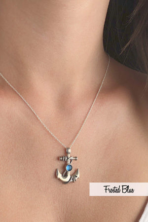 Sterling Silver-Anchor Pendant-Necklace Charm-Leightworks