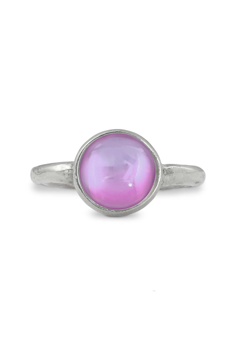 Handmade Sterling Silver-Classic Ring - Size 7-Pink-Polished-Leightworks