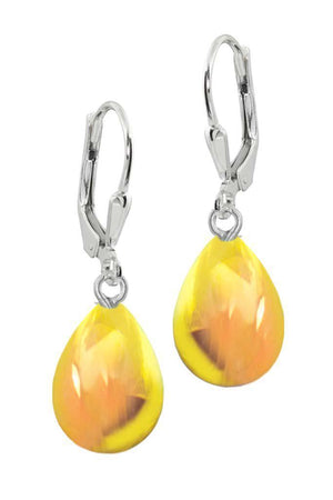 Sterling Silver-Drop Earrings-Fire-Polished-Leightworks