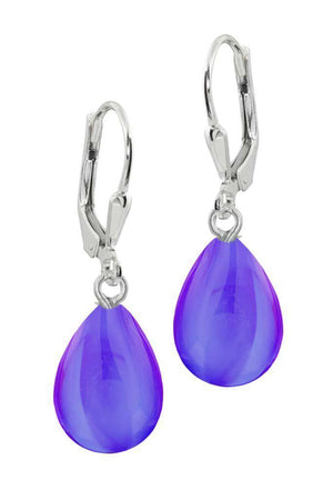 Sterling Silver-Drop Earrings-Violet-Polished-Leightworks