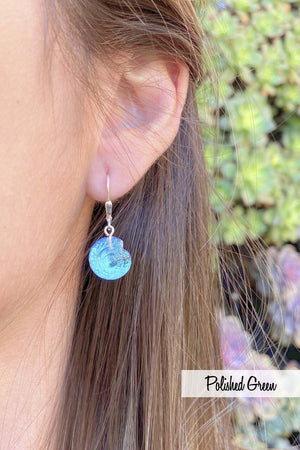 Sterling Silver-Nautilus Earrings-Leightworks
