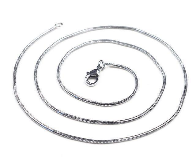 Silver Plated Chain 1mm-Sterling Silver-Leightworks