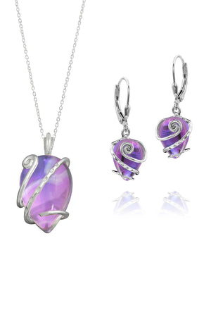 Sterling Silver-Single Wrap set-pink-polished-Leightworks