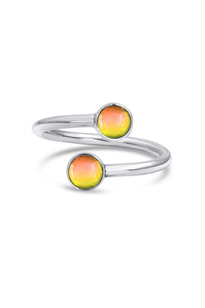 Handmade Sterling Silver-Small Double Ring-fire-polished-Leightworks